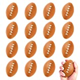 FUNNISM 16 Pack Mini Football Stress Balls,Squeeze Foam Soccer Ball for Stress/Anxiety Relief,Relaxation,Classroom Prize,School Carnival Reward,Superbowl and Kids Sports Birthday Party Favor Toy Gift