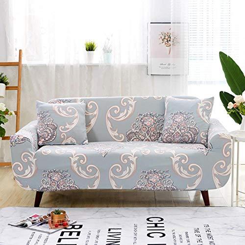 Funda Sofas 2 y 3 Plazas Impresión Fundas para Sofa con Diseño Elegante Universal,Cubre Sofa Ajustables,Fundas Sofa Elasticas,Funda de Sofa Chaise Longue,Protector Cubierta para Sofá
