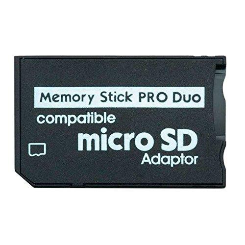 OcioDual Adaptador conversor de Tarjeta Micro SD a Memory Stick Pro Duo para PSP, Camaras Sony, etc