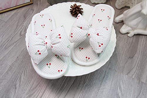 CDNS Zapatillas de casa para el hogar Casual, arco de cereza Boca de pescado Punta abierta Zapatillas de piso Interior Ocio Confort Zapatillas suaves y livianas Desgaste holgado Zapatillas de