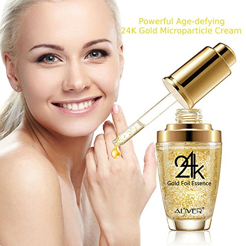 Premium 24k Gold Collagen, Hyaluronic Acid & Vitamins A E D Gel Powerful Anti-Aging Anti-Wrinkle Face Facial Eye Neck and Body Cream Reduces Wrinkles, Bags, Saggy Skin & Puffy Eyes For All Skin Types