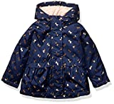Osh Kosh Girls' Toddler Midweight Jacket with Fleece Lining, Gold Unicorns On Navy, 4T