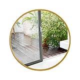 Wall mirror Snow Yang Runder abgeschrägter Metall-Wandspiegel, Rahmen aus Gusseisen mit 5 mm HD-Silberspiegel. Dekor/Wandkunst, dekorativer Spiegel für Heim und Büro