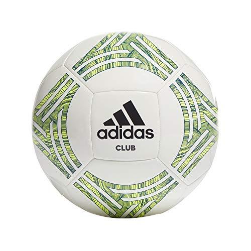 adidas GH6613 Tango CLB Soccer Ball Mens White/Team Royal Blue/Solar Yellow/Black 5