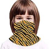 Tiger Stripes Patriotic Premium Versatile Multifunction Headwear Neck Gaiter Balaclava Helmet Liner Riding Face Cover for Kids Outdoors UV Protection Metallic
