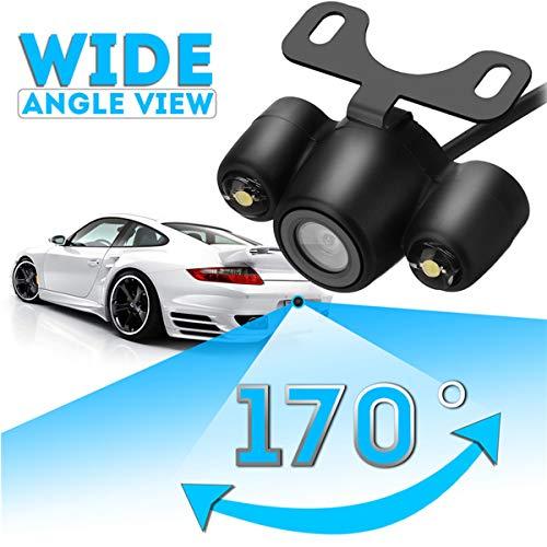 GOFORJUMP Universel pour kit de caméra de Vue arrière de Camion de Voiture étanche Vision Nocturne LED 170 degrés Auto Parking Reverse Camera Backup
