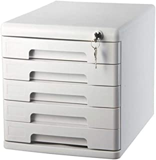 Classeur avec tiroir Avec serrure et tiroir Armoire de classement multifonction Armoire multifonction 5 tiroirs Fourniture...