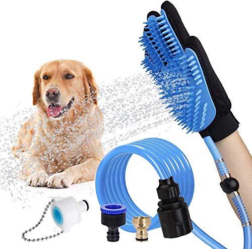 AROYEL - Pulverizador de ducha para mascotas y fregadero, apto para limpieza y masaje