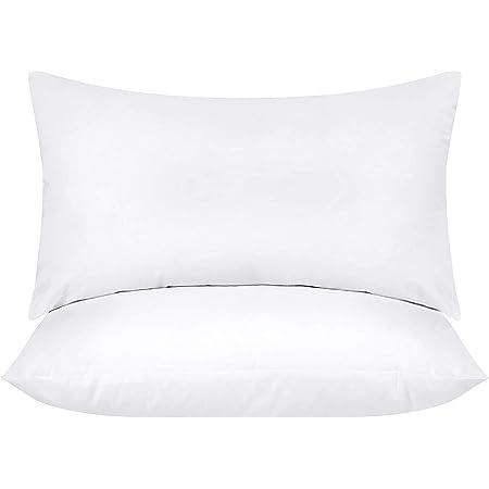 Utopia Bedding Coussins de Garnissage 30 x 50 cm (Lot de 2) - Coussin à Recouvrir - Oreillers Intérieur - Rembourrage Coussins - Housse en Mélange de Coton (Blanc)