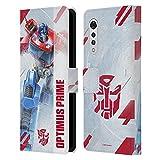 Head Case Designs Licenciado Oficialmente Transformers Optimus Prime Arte Clave de Autobots Carcasa de Cuero Tipo Libro Compatible con LG Velvet / 5G