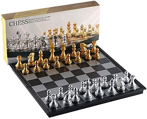 DJRH Juego de ajedrez Escolar de Estrellas con Tablero de ajedrez Plegable de Goma, Piezas de ajedrez y Bolsa portátil para Adultos y niños, Amigos se reúnen, Fiestas ( Size : B )