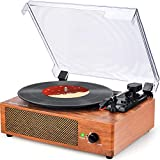 Best Record Players - Record Player Turntable Vinyl Record Player with Speakers Review
