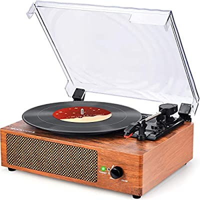 Record Player Turntable Vinyl Record Player wit...