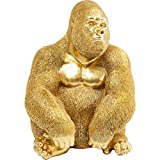 Kare Design Deko Figur Monkey Gorilla Side XL Gold