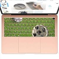 igsticker MacBook Air 13inch 2018 専用 キーボード用スキンシール キートップ ステッカー A1932 Apple マックブック エア ノートパソコン アクセサリー 保護 000206 スポーツ ゴルフ ショット 芝生