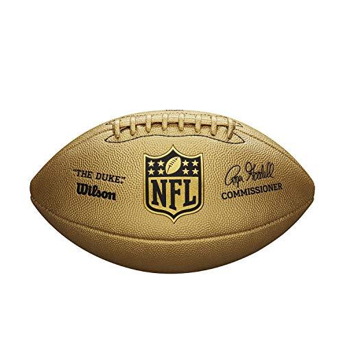 Wilson American Football NFL Duke METALLIC Edition, Mischleder, Offizielle Größe, Gold, WTF1826XB
