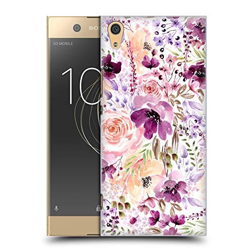 Head Hülle Designs Offizielle Anis Illustration Blumiges Chaos Blumen Muster 3 Harte Rueckseiten Huelle kompatibel mit Sony Xperia XA1 Ultra/Dual
