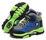 Chaussures de randonnée pour garçon Bottes de Neige d'hiver Doublure Chaude en Plein air Sneakers Taille 30-41