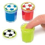 Baker Ross Pâte à prout Ballon de Foot (Lot de 6) - Jouets parfaits pour les pochettes-surprises des enfants