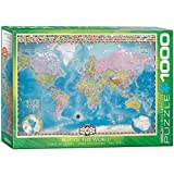 Map of the World. Puzzle 1000 Teile