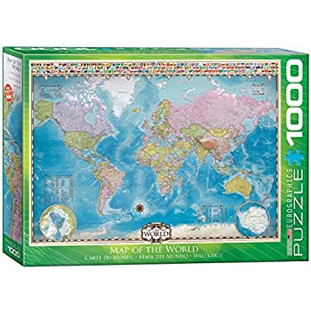 EuroGraphics Map of The World Puzzle  1000-Piece