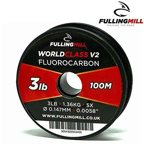 FISHING LINE 100M SPOOL FULLING MILL FLUOROCARBON WORLD CLASS TIPPET LEADER
