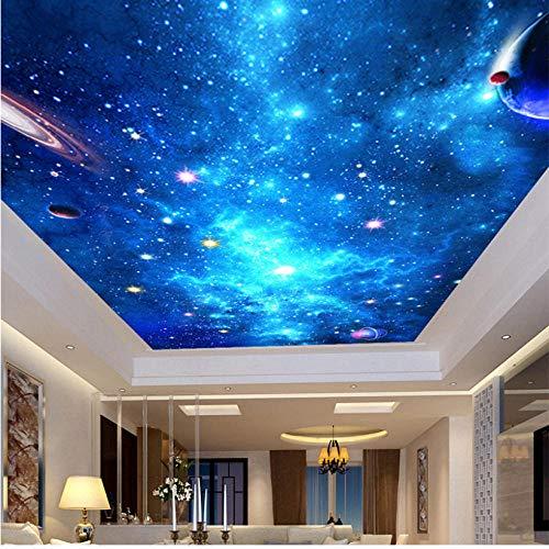 Vlies Fototapete Maßgeschneiderte 3D-Deckengemälde Galaxy Nebula Fototapete KTV Bar Hotel Deckenwand Hintergrund Tapete Wandgemälde Wandverkleidungen-300 X 250CM
