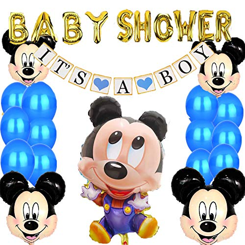 Mickey Mouse Baby Shower Decorations for Boy,It