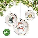 FOONEE 10 Pezzi Sfera Decorativa Trasparente da 12cm(4,7 Pollici), Palla riempibile Fai-da-Te, Adatta per Decorazioni Natalizie, Decorazioni per Alberi di Natale, Decorazioni per Feste di Nozze