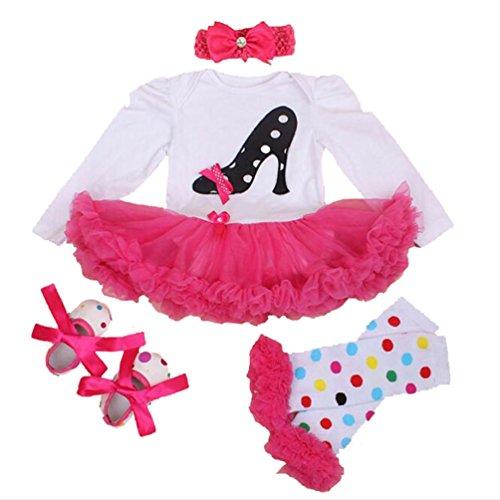 Un Traje de Faldas de Tutú para 20 - 22 Pulgadas Muñecas de Cumpleaños Vestido de la Muñeca de la Niña Ropa de Bebé Calcetines de la Venda del Zapato