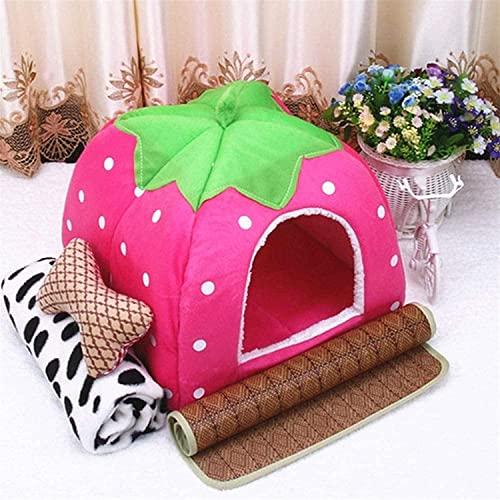 Rcsinway Pets Beds Winter Keep Warm Cat Nest - Cobertizo para perro para saco de dormir suave, bonito, pequeño (color: pequeño)