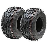 Dos (par) 16x8.00-7 neumáticos de cuádruple, 16 x 8-7 ATV E marcó el neumático de la C...