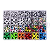 1620pcs Googly Wiggle Eyes Self Adhesive, for Craft Sticker Eyes Multi Colors and Sizes fo...