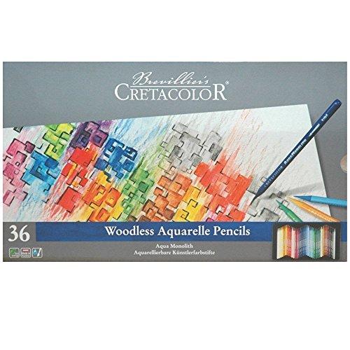 Kit crayons 36 Aqua Monolith Boîte en métal Set de