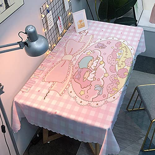 Mantel de mesa rectangular resistente a las manchas, lavable, 270 x 350 cm