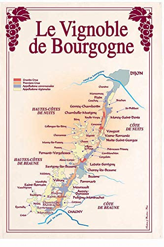 Torchons et Bouchons - Torchon vignoble de bourgogne