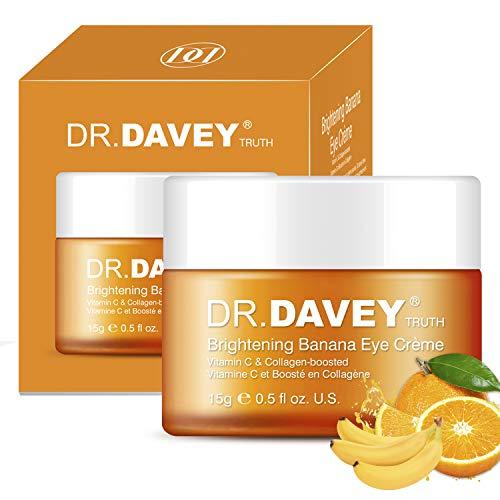 DR.DAVEY Augenpflege Augencreme mit Vitamin C Kollagen Verstärktem und Hyaluronsäure Anti-Aging-Augengel für Augenringe & Tränensäcke, Feuchtigkeitscreme, Pflegen, Anti-Schwellungen, Anti-Falten 15g