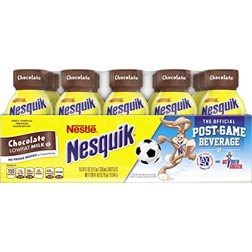 Nesquik Ready to Drink Chocolate Milk, 8 Ounce, 15 Count
