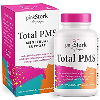 Pink Stork Total PMS Relief Supplement  Period Relief Hormone Balance for Healthy Flow + Menstrual Cycle Cramping + Bloating Relief for Women Magnesium Vitamin B12 Vitex Women-Owned 60 Capsules