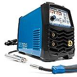 IPOTOOLS MIG-225SYN - Saldatrice MIG MAG a gas di protezione con 225 Ampere/Synergic / filo di riempimento e elettrodi / E-Hand/display digitale / IGBT / 230 V / 7 anni di garanzia