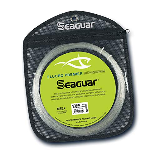 Seaguar 40FP25 Fluorocarbon Premier Leader Material, 40-Pound, 25-Yards