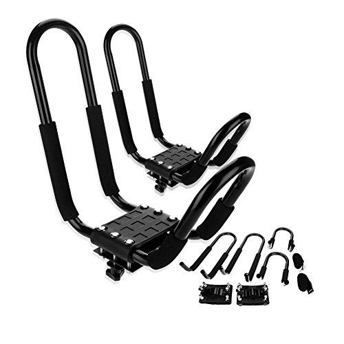 J Bars - Portaequipajes para kayak, soporte para canoa, soporte para transporte de coche, accesorio de ayuda de carga, soporte resistente, universal (1 par)