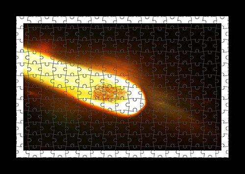 Puzzle stile (preconfigurati) Stampante muro di Space Meteor Speed distruzione by Lisa Loft