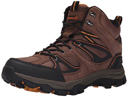 Nevados mens Talus Ii Mid Hiking Shoe, Dark Tan/Black/Orange, 10.5 US