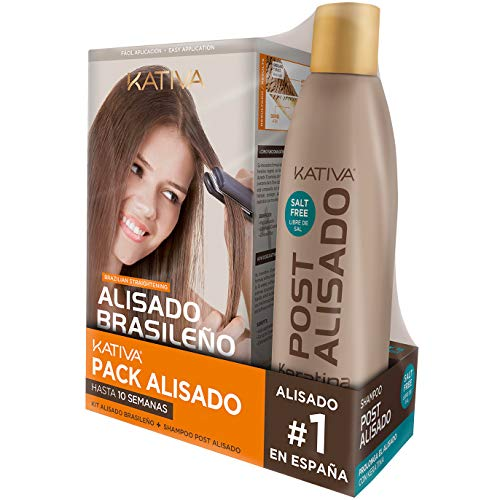 Pack ahorro Kativa Kit Alisado Brasileño con Champú Post A