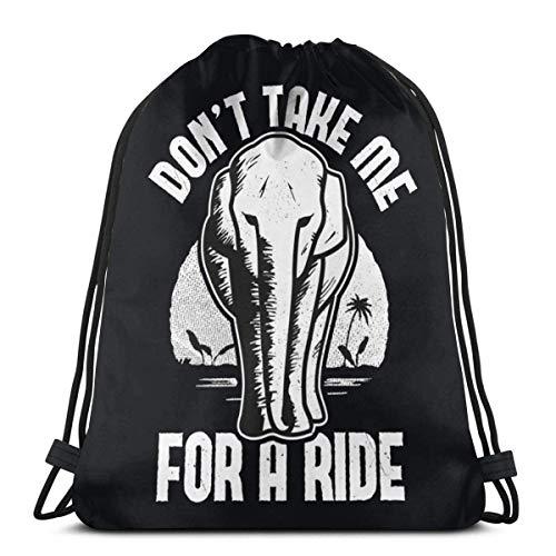 Don'T Take Me for a Ride Gym Bolsa con cordón, mochila deportiva para hombres, mujeres y niñas, 36 x 43 cm