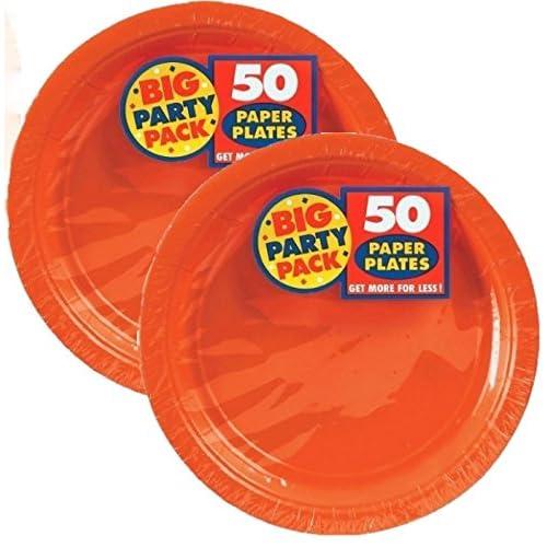 """Unique Simply Grad Paper Party 7/"""" Lunch Plates x 10"""