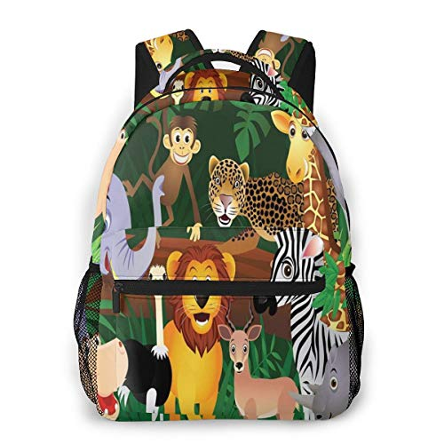 Clothes socks School Backpack Bookbag Casual Daypack Travel Laptop Backpack for Girls Women Teenagers.Parrots and Exotic Baby