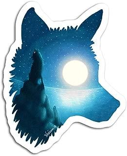 gordonstore Sticker Creature Animal Midnight Wolf Animals Fauna (3