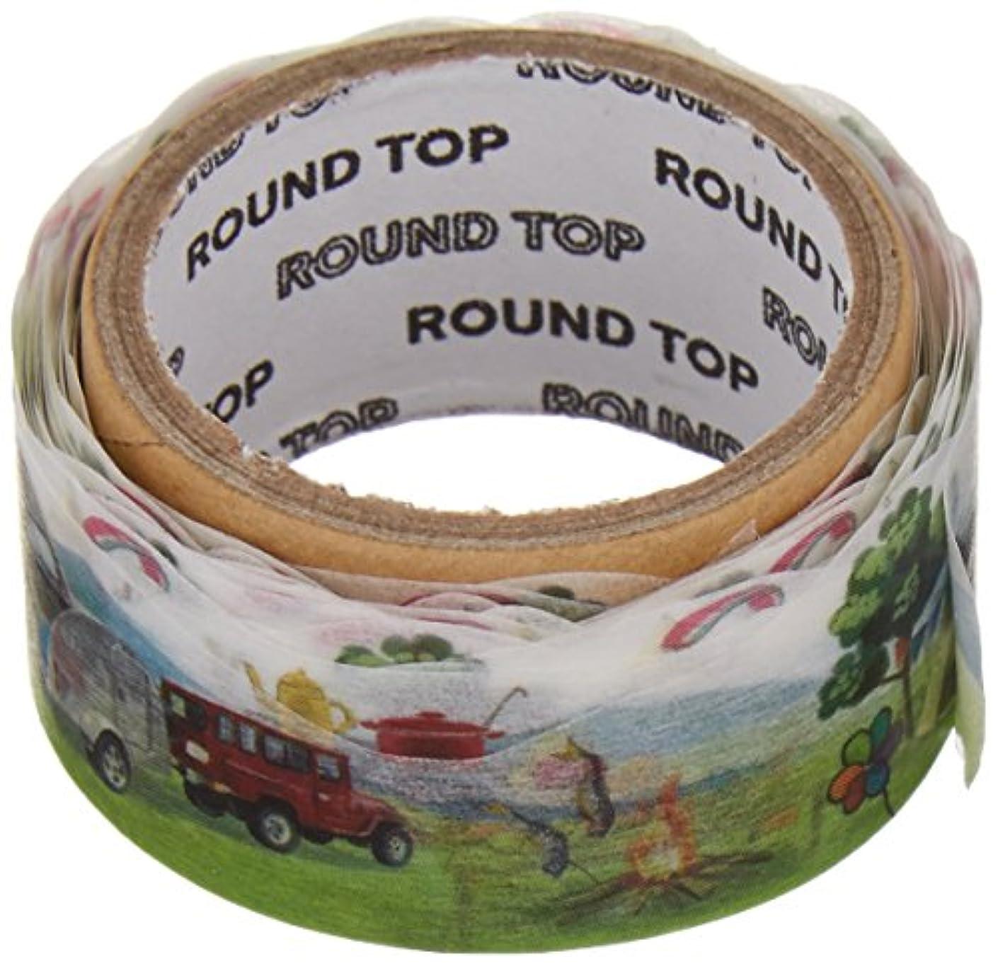 Roundtop Designer's Washi Masking Tape 20mm x 5m, Yano Design Trip & Holiday, Outdoor (YD-MK-060)